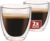 Dubbelwandig glazen Espresso per 2