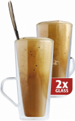 Dubbelwandig glazen Frappé per 2