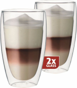 Dubbelwandig glazen Latte per 2
